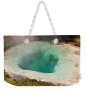 Blue Bell Pool In West Thumb Geyser Basin In Yellowstone National Park Weekender Tote Bag
