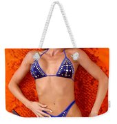 Blue Bikini 16-2p Weekender Tote Bag