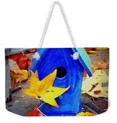 Blue Bird House Weekender Tote Bag