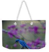 Blue Bird Praying Weekender Tote Bag