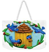 Blue Birds Fly Home Weekender Tote Bag by Amy Vangsgard