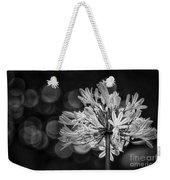 Blue Blooms B/w Weekender Tote Bag
