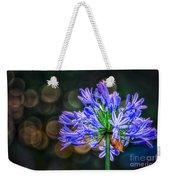 Blue Blooms Weekender Tote Bag