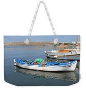 Blue Boat In Sozopol Harbour Weekender Tote Bag