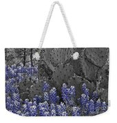 Blue Bonnet Cactus Weekender Tote Bag
