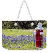 Blue Bonnets Fire Hydrant V2 Weekender Tote Bag