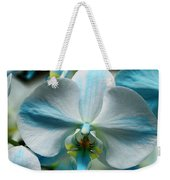Blue Bow Orchid Weekender Tote Bag