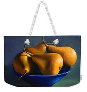 Blue Bowl With Four Pears Weekender Tote Bag