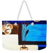 Blue Buds Floral Weekender Tote Bag