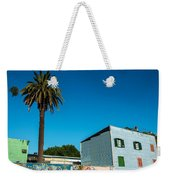 Blue Building In Historic Neighborhood Weekender Tote Bag