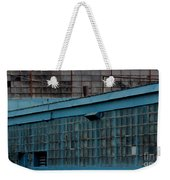 Blue Building Windows Weekender Tote Bag
