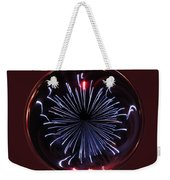 Blue Burst Orb Abstract Weekender Tote Bag