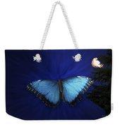 Blue Butterfly Ascending Weekender Tote Bag