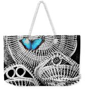 Blue Butterfly Charleston Weekender Tote Bag