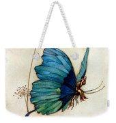 Blue Butterfly II Weekender Tote Bag by Warwick Goble