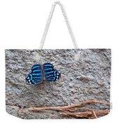 Blue Butterfly Myscelia Ethusa Art Prints Weekender Tote Bag