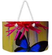 Blue Butterfly On Fire Mum Weekender Tote Bag