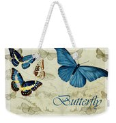 Blue Butterfly - S01a Weekender Tote Bag
