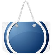 Blue Button Weekender Tote Bag