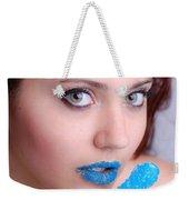 Blue Candy Weekender Tote Bag