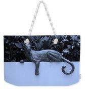 Blue Cat Weekender Tote Bag by Rob Hans