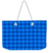 Blue Checkered Tablecloth Fabric Background Weekender Tote Bag