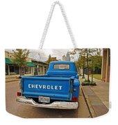 Blue Chevy Tailgate Weekender Tote Bag