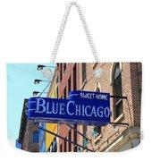 Blue Chicago Club Weekender Tote Bag