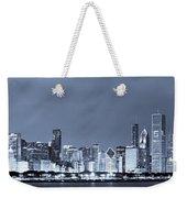 Blue Chicago Skyline Weekender Tote Bag