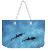 Blue Chill Weekender Tote Bag by Sean Davey