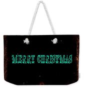 Blue Christmas Weekender Tote Bag