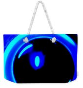 Blue Circle Weekender Tote Bag