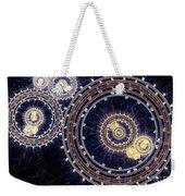 Blue Clockwork Weekender Tote Bag