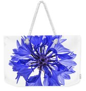 Blue Cornflower Flower Weekender Tote Bag