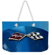 Blue Corvette Weekender Tote Bag