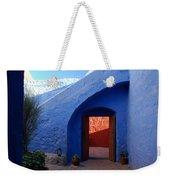 Blue Courtyard Weekender Tote Bag