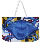 Blue Crab Weekender Tote Bag