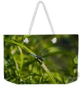 Blue Damsel Dragon Fly Weekender Tote Bag
