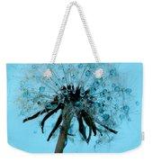 Blue Dandelion Wish Weekender Tote Bag