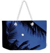 Blue Dawn Moon Weekender Tote Bag