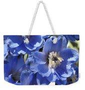 Blue Delphinium 9655 Weekender Tote Bag
