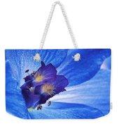 Blue Delphinium Weekender Tote Bag