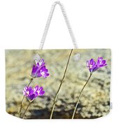 Blue Dicks Sway In A Breeze By Lower Palm Canyon Trail In Indian Canyons Near Palm Springs-california Weekender Tote Bag