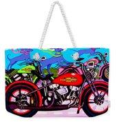 Blue Dogs On Motorcycles - Dawgs On Hawgs Weekender Tote Bag