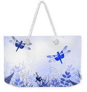 Blue Dragonfly Art Weekender Tote Bag