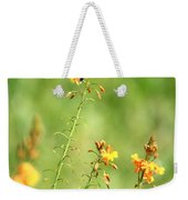 Blue Dragonfly In The Flower Garden Weekender Tote Bag