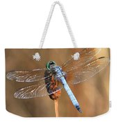 Blue Dragonfly Square Weekender Tote Bag