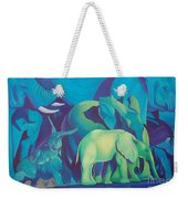 Blue Elephants Weekender Tote Bag