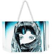 Blue Eye Lady Weekender Tote Bag