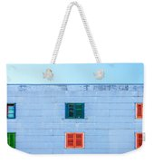 Blue Facade And Colorful Windows Weekender Tote Bag